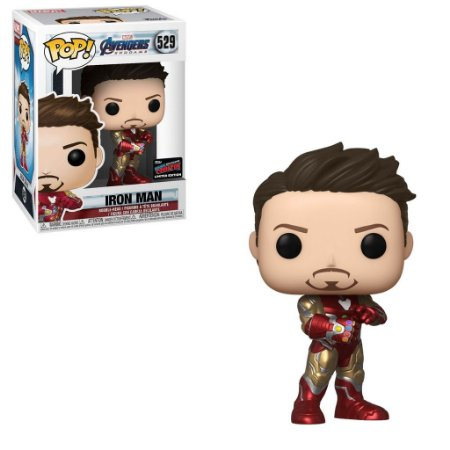Funko Pop Marvel Endgame 529 Iron Man with Gauntlet NYCC 2019 Exclusive