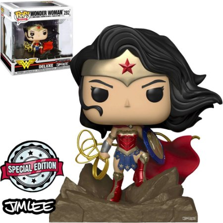 Funko Pop Dc 282 Wonder Woman Jim Lee Deluxe Exclusive