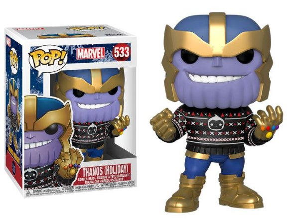Funko Pop Marvel 533 Thanos Holiday in Ugly Sweater