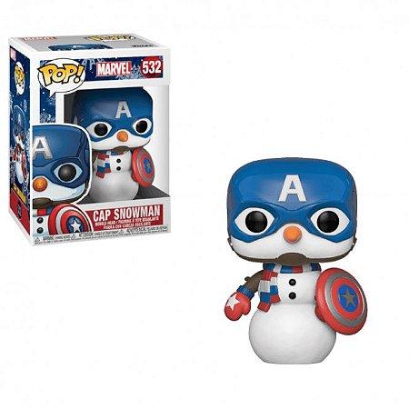 Funko Pop Marvel 532 Captain America Snowman Holiday