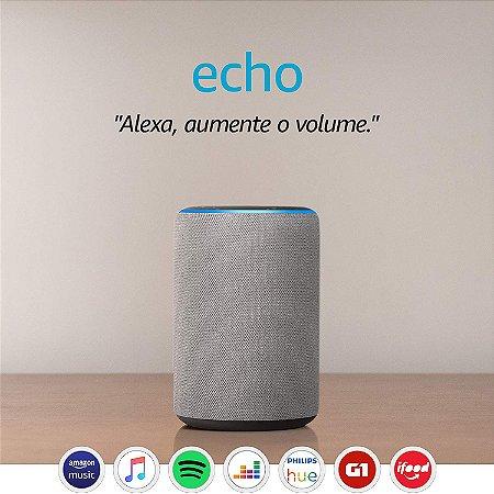 Amazon Echo 3ª Geração Smart Speaker c/ Alexa Gray - Cinza