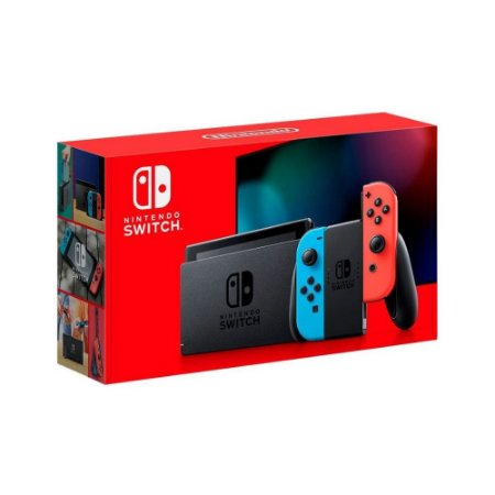 Console Nintendo Switch New Battery Model Neon Blue e Neon Red