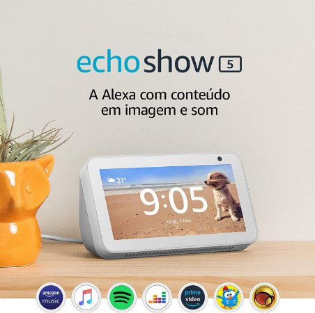 Amazon Echo Show 5 Smart Display C/ Alexa Português - Branco