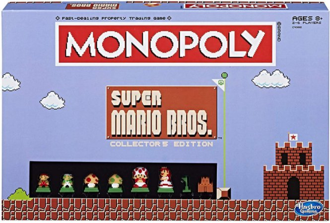 Monopoly Super Mario Bros Collectors Edition Board Game (Inglês)