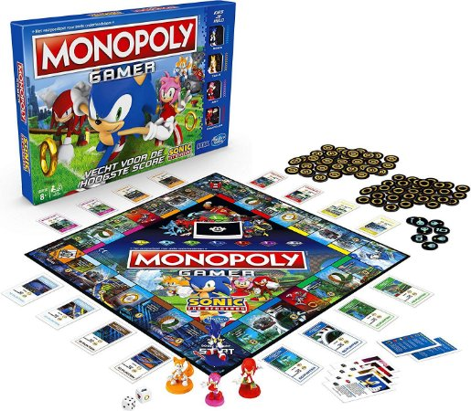 Monopoly Gamer Sonic The Hedgehog Edition Board Game (Inglês)