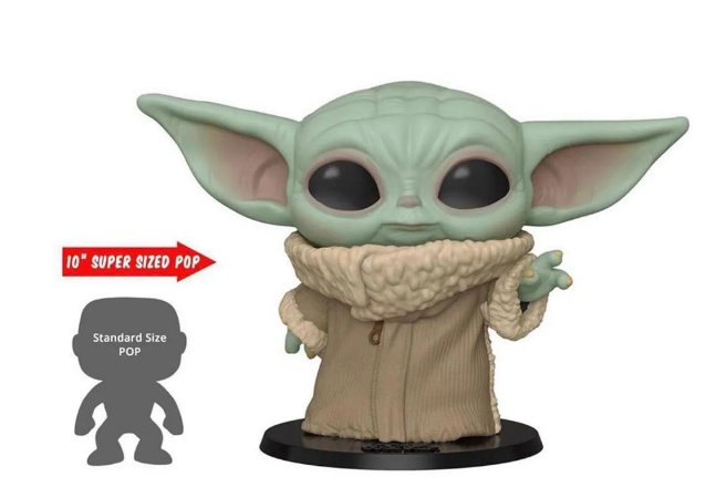 Funko Pop Star Wars The Mandalorian Baby Yoda The Child 10 Supersized