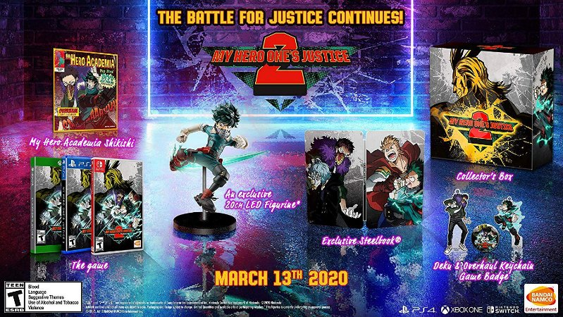 MY HERO ONE'S JUSTICE 2 Collectors Edition - PS4