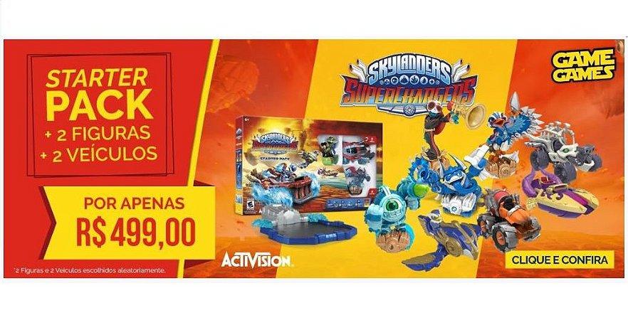 Kit Skylanders Superchargers c/ 2 Figuras e 2 Veículos - Xbox 360