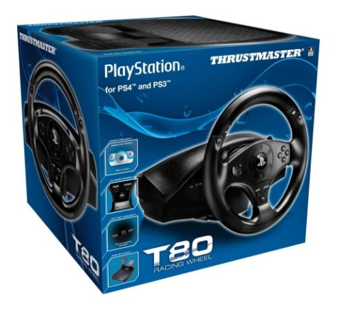 Volante c/ Pedais Thrustmaster T80 Racing Wheel Ps3/Ps4