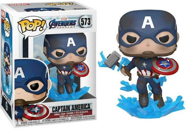 Funko Pop Marvel 573 Captain America w/ Broken Shield & Mjoinir
