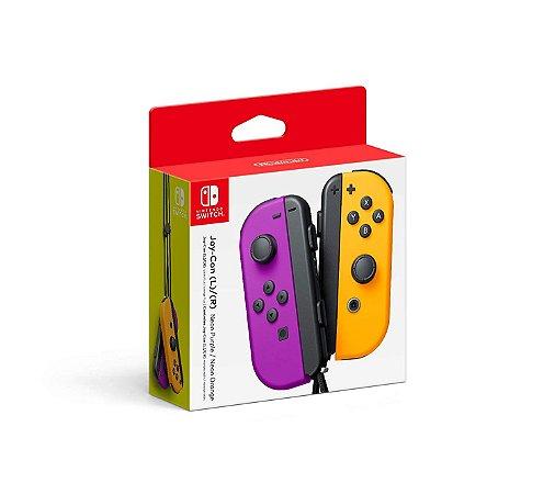Nintendo Joy-Con (L/R) Roxo e Laranja Purple Orange - Switch