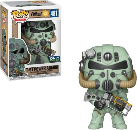Funko Pop Fallout 76 481 T-51 Power Armor Green Exclusive