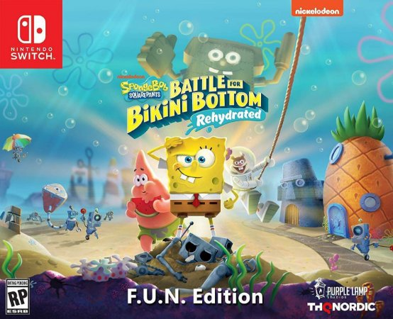 Spongebob Squarepants Battle for Bikini Bottom Rehydrated F.U.N. Edit. - Switch