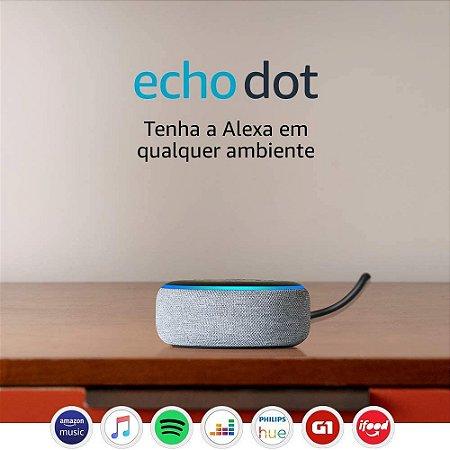 Amazon Echo Dot (3rd Gen) Smart Speaker C/ Alexa - Cinza
