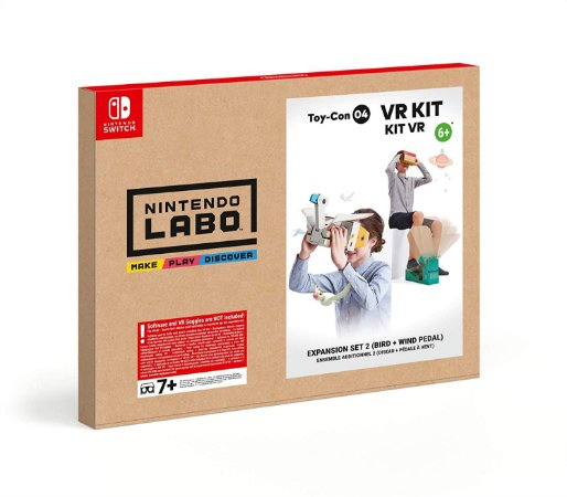 Nintendo Labo VR Kit Expansion Set 2 Bird and Wind Pedal - Switch