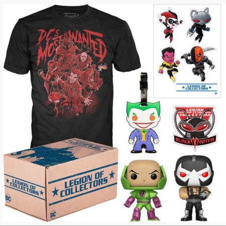 Funko Box Dc Most Wanted Legion Of Collectors - GG