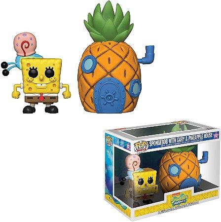 Funko Pop Bob Esponja 02 Spongebob With Gary Pineapple House