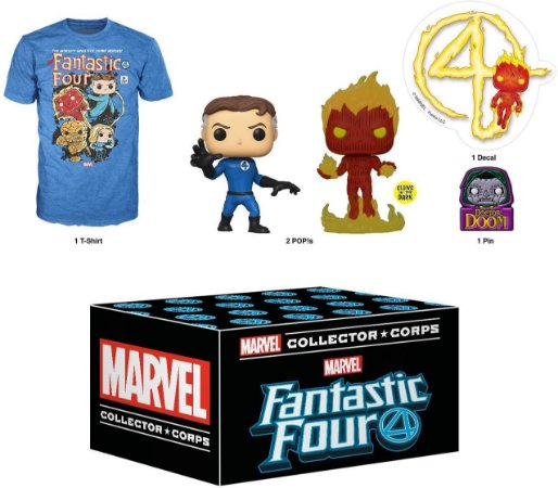 Funko Marvel Collector Corps Box Fantastic Four - XL
