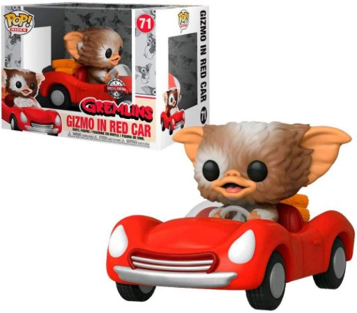 Funko Pop Rides Gremlins 71 Gizmo in Red Car Exclusive