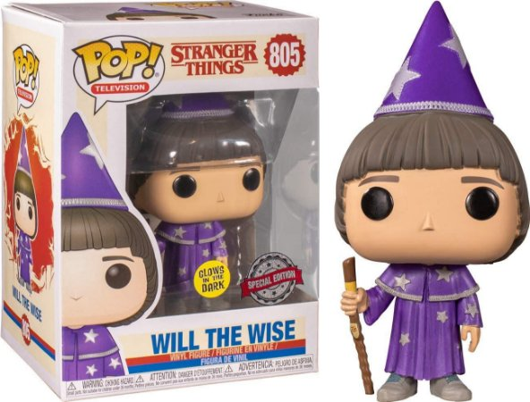 Funko Pop Stranger Things 805 Will The Wise Glows in the Dark