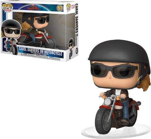 Funko Pop Captain Marvel 57 Carol Danvers On Motorcycle