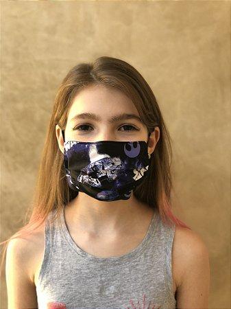Máscara Dupla Proteção Lavável Uso dos 2 Lados Star Wars 02