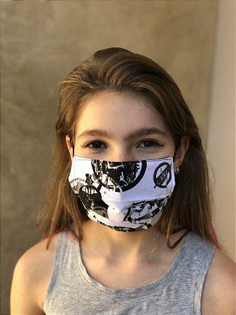 Máscara Dupla Proteção Lavável Uso dos 2 Lados Star Wars 03