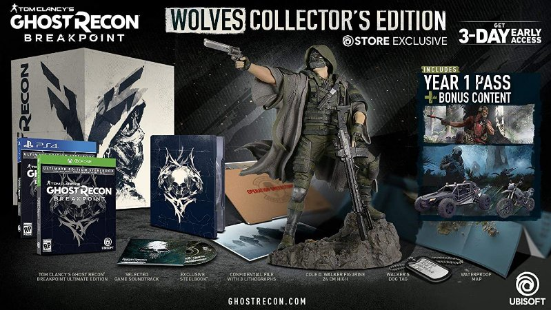 Tom Clancy's Ghost Recon Breakpoint Wolves Collectors Edition - PS4