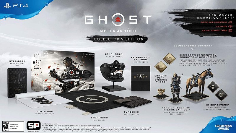 Ghost of Tsushima Collectors Edition - PS4