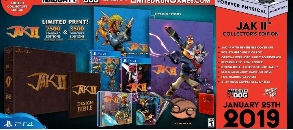 Jak 2 Collectors Limited Edition - Ps4