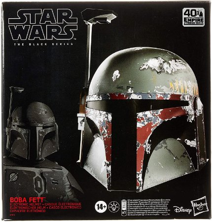 Capacete Eletrônico Star Wars Black Series Boba Fett