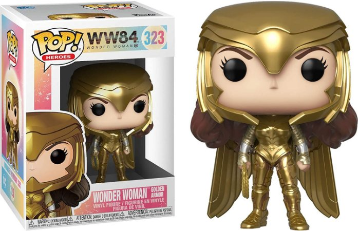 Pop Funko Ww84 323 Wonder Woman Gold Armor
