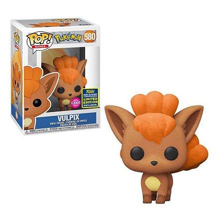 Funko Pop Pokemon 580 Vulpix Flocked Sdcc 2020