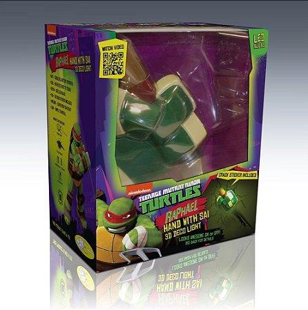 Luminária 3D Light FX Tartarugas Ninja Arma Raphael