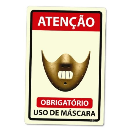 Placa Decorativa 24x16 Use Máscara Killer Hannibal Lecter