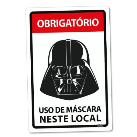 Placa Decorativa 24x16 Use Máscara Darth Vader Star Wars