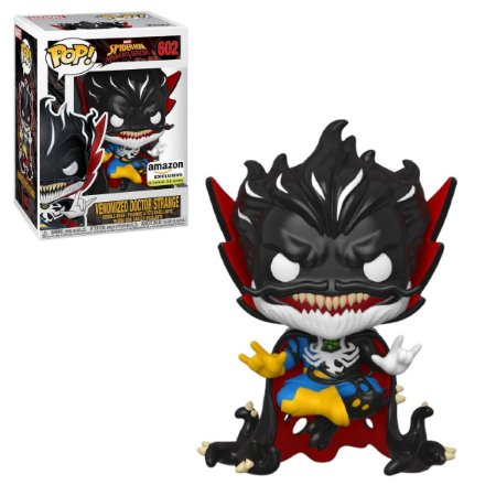 Funko Pop Spider-Man Maximum 602 Venomized Dr. Strange GITD Exclusive