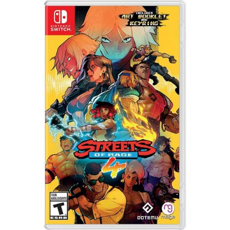Streets Of Rage 4 + Chaveiro + Art Booklet - Switch