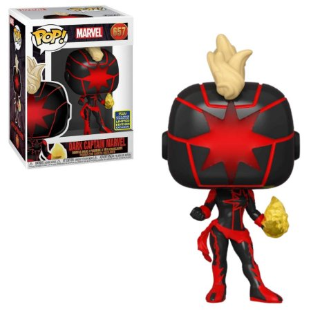 Funko Pop Marvel 657 Dark Captain Marvel 657 SDCC 2020 Limited