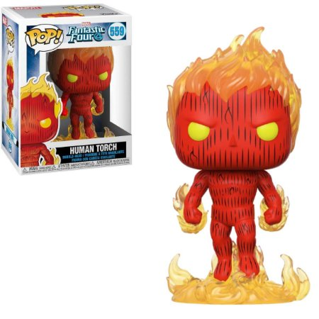 Funko Pop Marvel Fantastic Four 559 Human Torch Tocha Humana