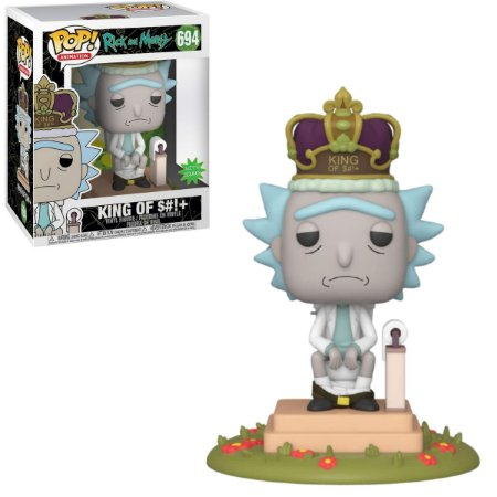 Funko Pop Rick And Morty 694 Rick King Of $#!+ c/ Som