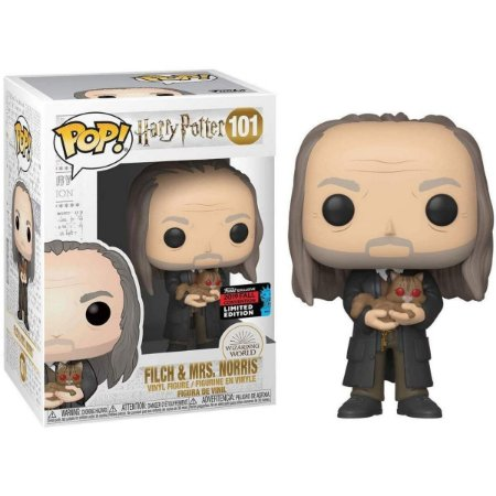 Funko Pop Harry Potter 101 Filch & Mrs. Norris NYCC Limited