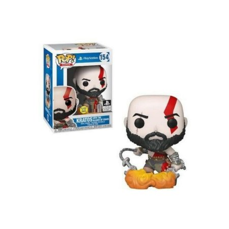 Funko Pop God of War 154 Kratos With The Blades Of Chaos GITD Exclusive