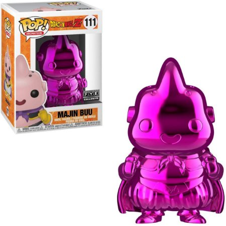 Funko Pop Dragon Ball Z 111 Majin Buu Pink Chrome Special Ed
