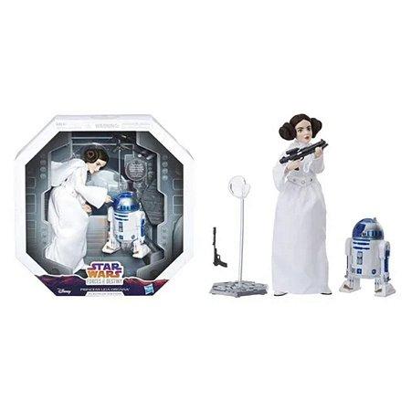 Star Wars Forces of Destiny Princesa Leia e R2-d2 Platinum Ed. - Hasbro