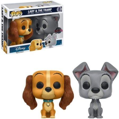 Funko Pop Disney 2 Pack Lady e The Tramp Dama e Vagabundo