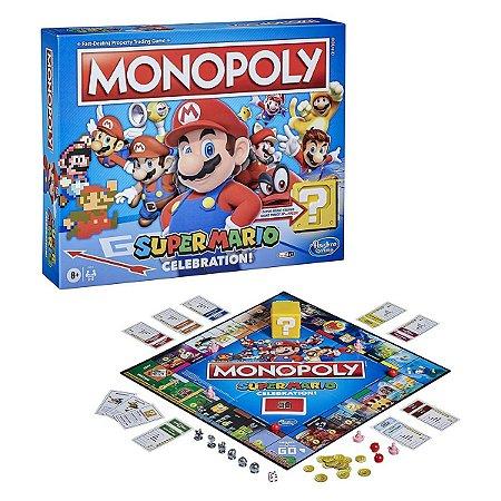 Monopoly Super Mario Celebration Board Game c/ Efeitos Sonoros - Inglês