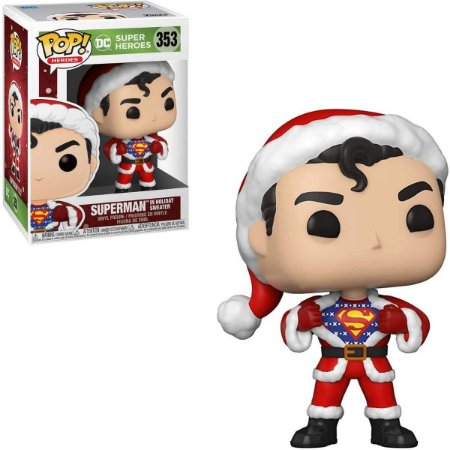 Funko Pop Dc Super Heroes 353 Superman in Holiday Sweater