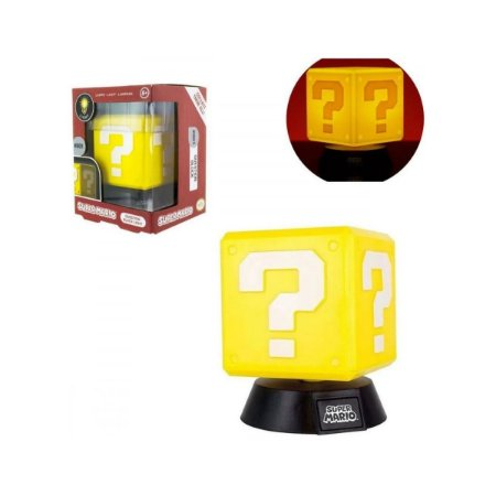 Luminária Mini Bloco Interrogação Nintendo Super Mario Bros Paladone