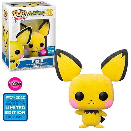 Funko Pop Pokemon 579 Pichu Flocked Limited Edition